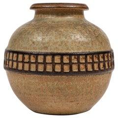 Midcentury Pottery Vase by Soholm Stentoj Bornholm, Denmark