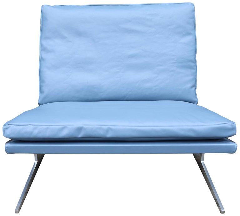 Stainless Steel Midcentury Preben Fabricus & Jorden Kastholm Lounge Chair For Sale