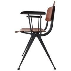 Midcentury Prouvé Inspired Industrial Armchair Attributed to Friso Kramer