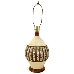 Midcentury Quartite Creative Corp Ceramic Tile Lamp, circa 1963