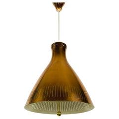Midcentury Rare Copper Pendant Lamp by Vereinigte Werkstätte, 1960s