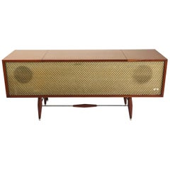 Midcentury Record Player Console