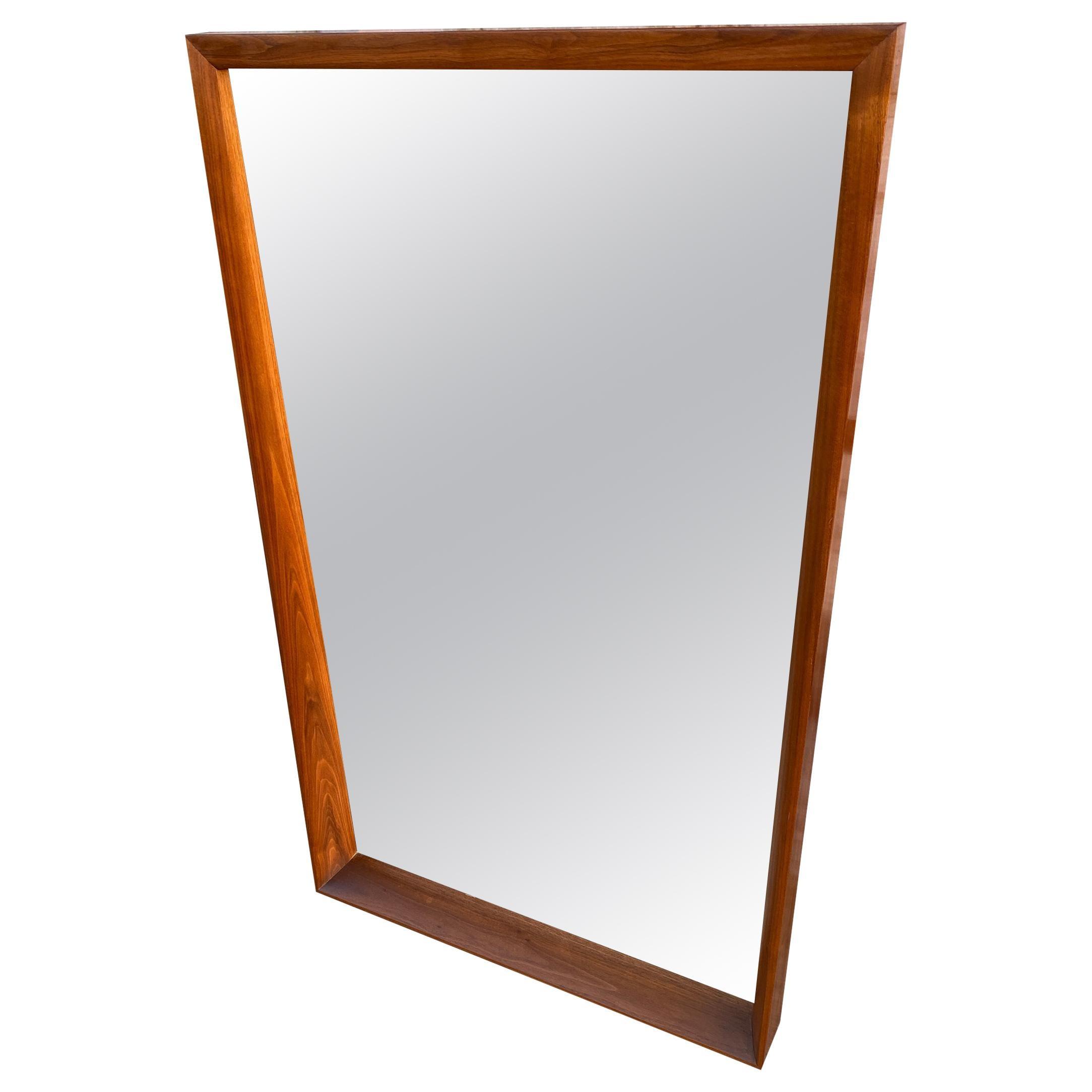 Midcentury Rectangle Walnut Frame Mirror Very Beautiful Style of Nakashima