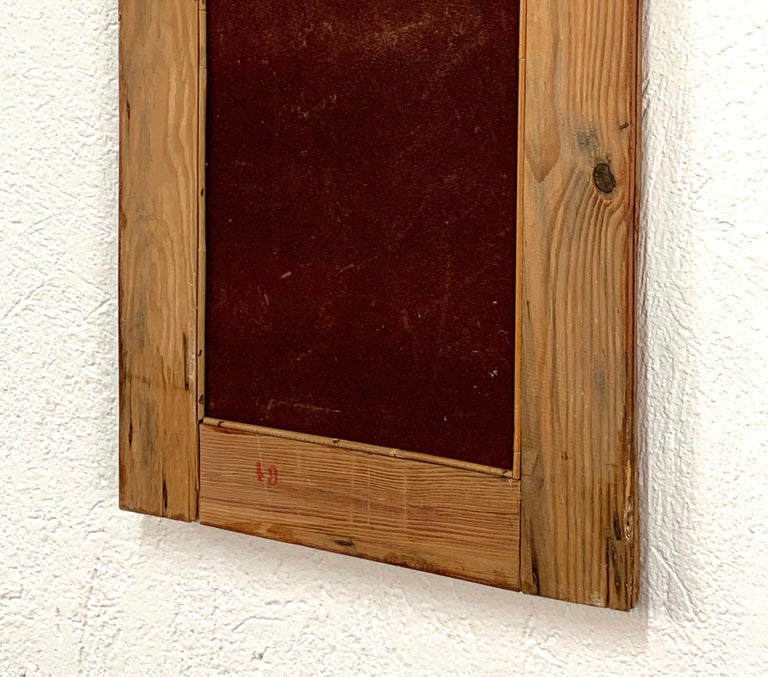 Midcentury Rectangular Italian Mirror with Bamboo Wicker Woven Frame, 1960s For Sale 4