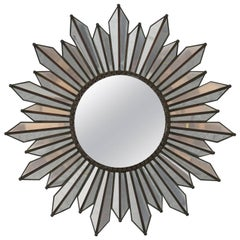 Midcentury Regency Style Sunburst Mirror