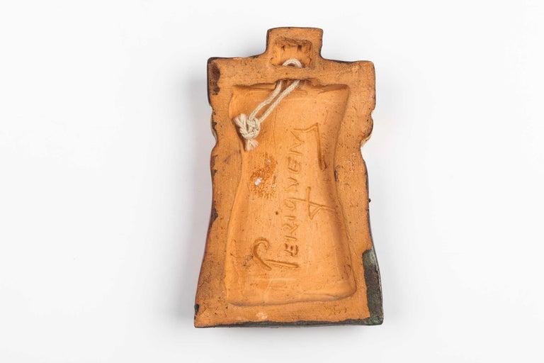 Hand-Crafted Midcentury Religious European Ceramic Crucifix, 1970s