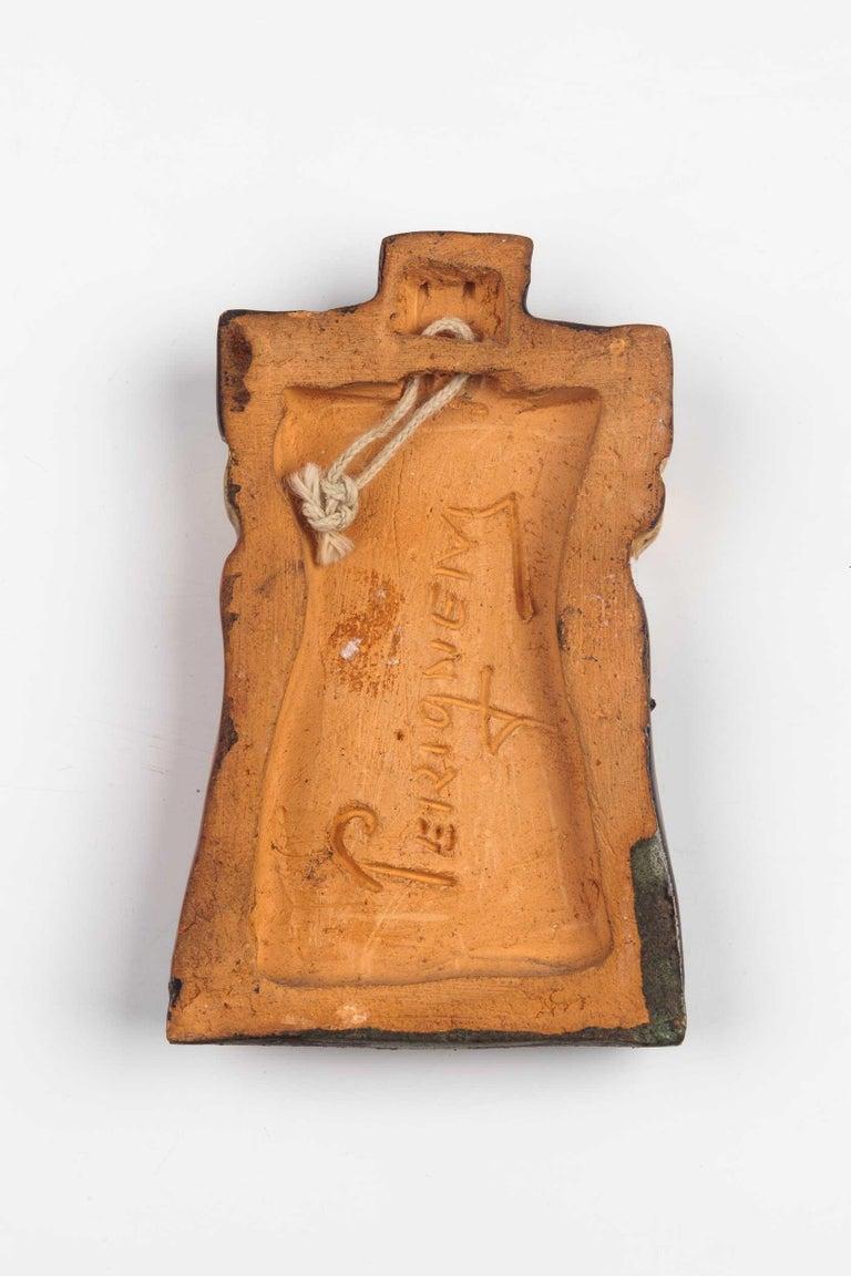Midcentury Religious European Ceramic Crucifix, 1970s In Good Condition In Chicago, IL