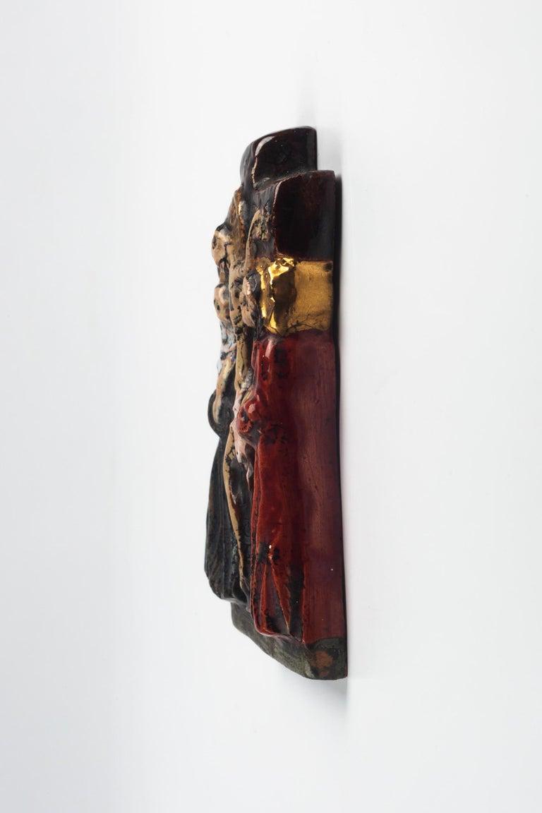 Midcentury Religious European Ceramic Crucifix, 1970s 1