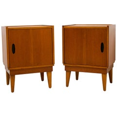 Midcentury Retro Teak Austinsuite Bedside Cabinet Tables, Set of 2