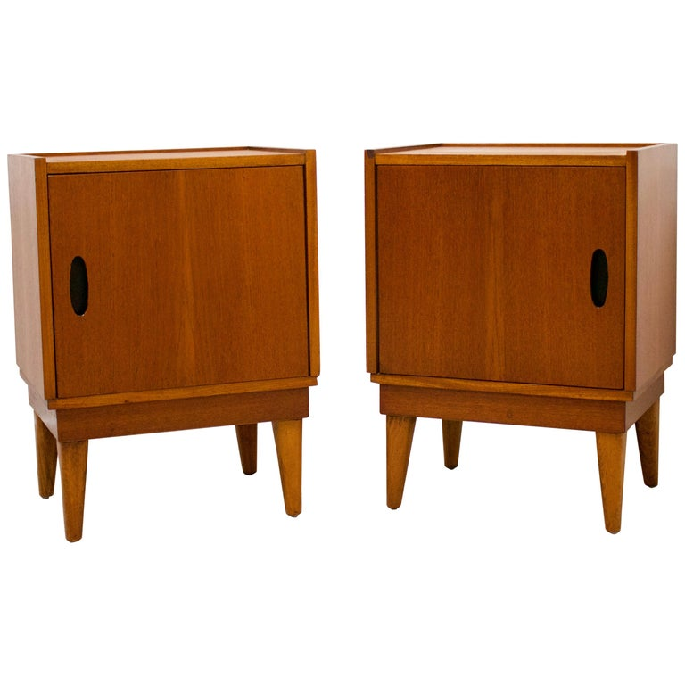 Midcentury Retro Teak Austinsuite Bedside Cabinet Tables, Set of 2 For Sale