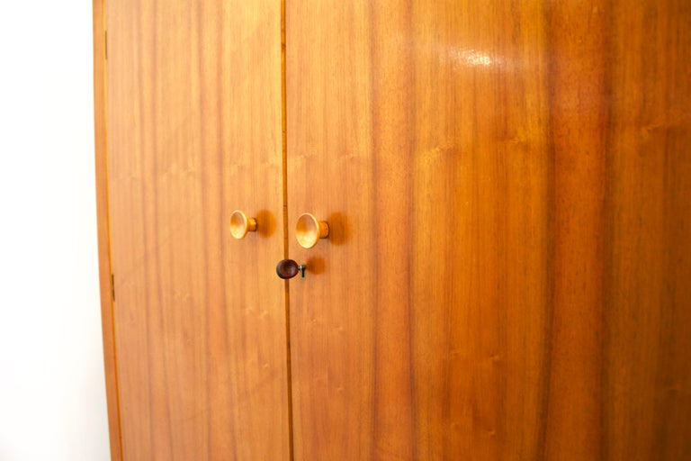 Mid-Century Modern Midcentury Retro Walnut Wardrobe For Sale