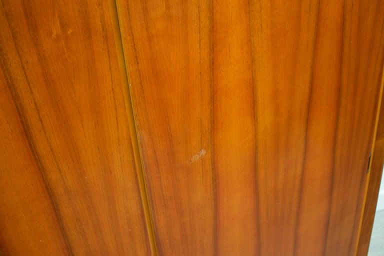 Veneer Midcentury Retro Walnut Wardrobe For Sale