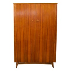 Midcentury Retro Walnut Wardrobe