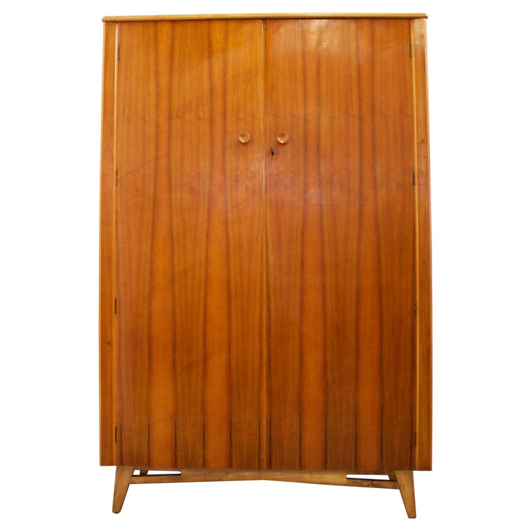 Midcentury Retro Walnut Wardrobe For Sale