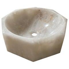 Midcentury Rock Crystal Sink