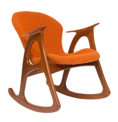Midcentury Rocking Chair by Aage Christiansen for Erhardsen Andersen