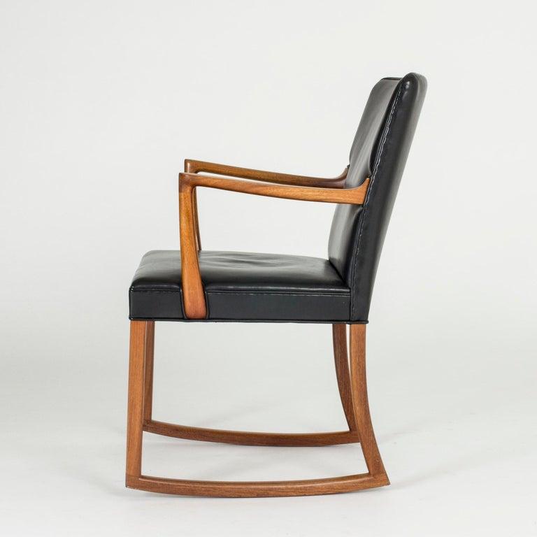 Scandinavian Modern Midcentury Rocking Chair by Ole Wanscher For Sale