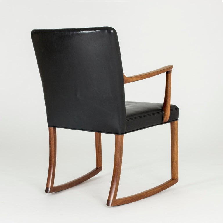 Danish Midcentury Rocking Chair by Ole Wanscher For Sale