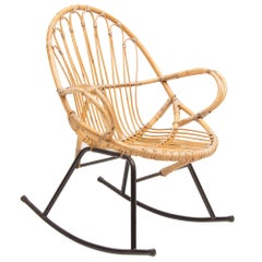 Midcentury Rocking Chair by Rohe Schommelstoel