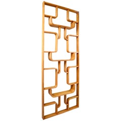 Midcentury Room Divider in Blond Bentwood, Czech Republic, 1960s
