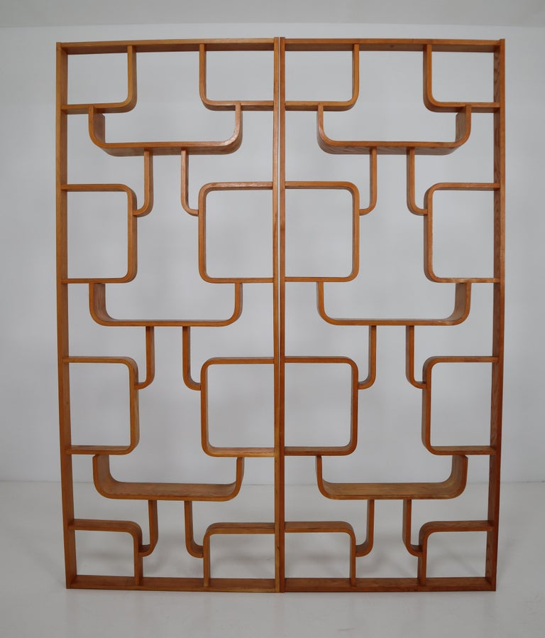 20th Century Midcentury Room Divider Shelves for Thonet in Bent-Wood, circa 1960s For Sale
