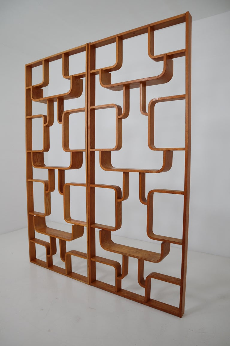 Midcentury Room Divider Shelves for Thonet in Bent-Wood, circa 1960s For Sale 2