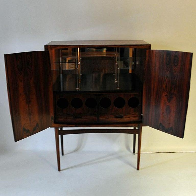 Midcentury Rosewood bar Baccus by Torbjørn Afdal, Norway 1955 For Sale 2