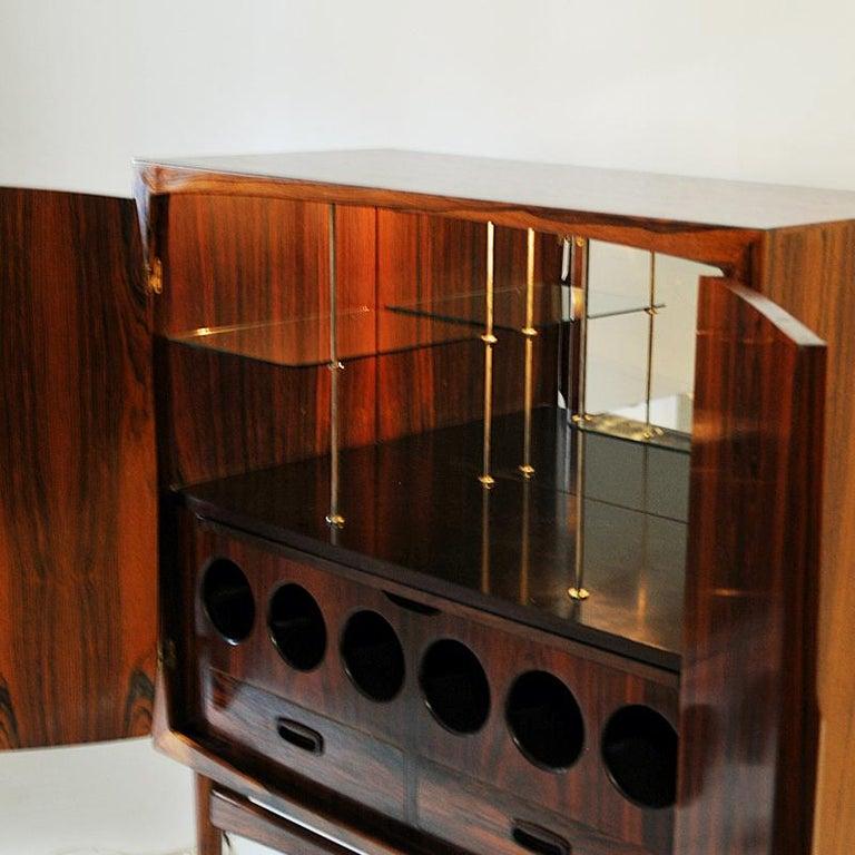 Midcentury Rosewood bar Baccus by Torbjørn Afdal, Norway 1955 For Sale 1