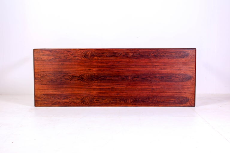 Scandinavian Modern Midcentury Rosewood Coffee Table by Erling Torvits for Heltborg Møbler For Sale