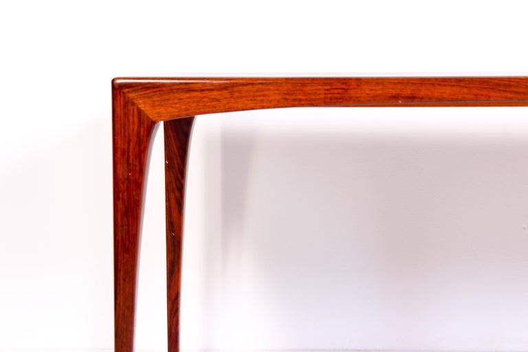 Midcentury Rosewood Coffee Table by Erling Torvits for Heltborg Møbler In Good Condition For Sale In Malmo, SE