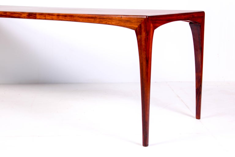 Midcentury Rosewood Coffee Table by Erling Torvits for Heltborg Møbler For Sale 1