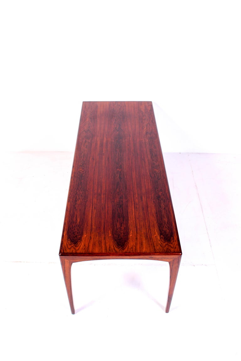 Midcentury Rosewood Coffee Table by Erling Torvits for Heltborg Møbler For Sale 2