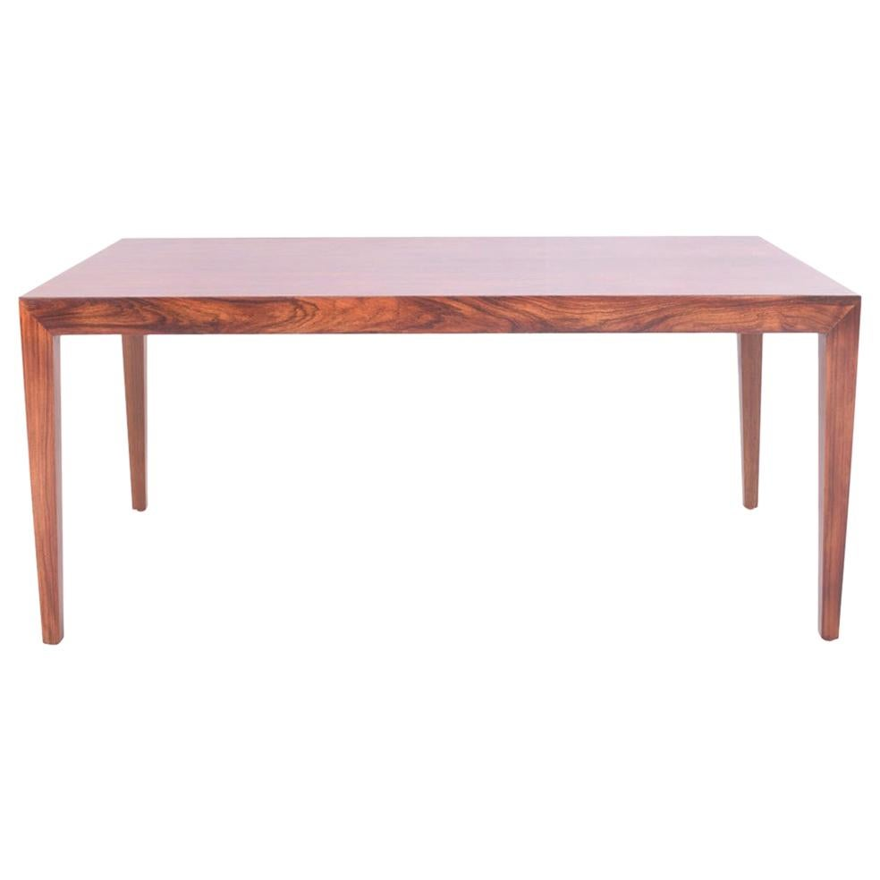 Midcentury Rosewood Coffee Table by Severin Hansen Jr. for Haslev, 1970s