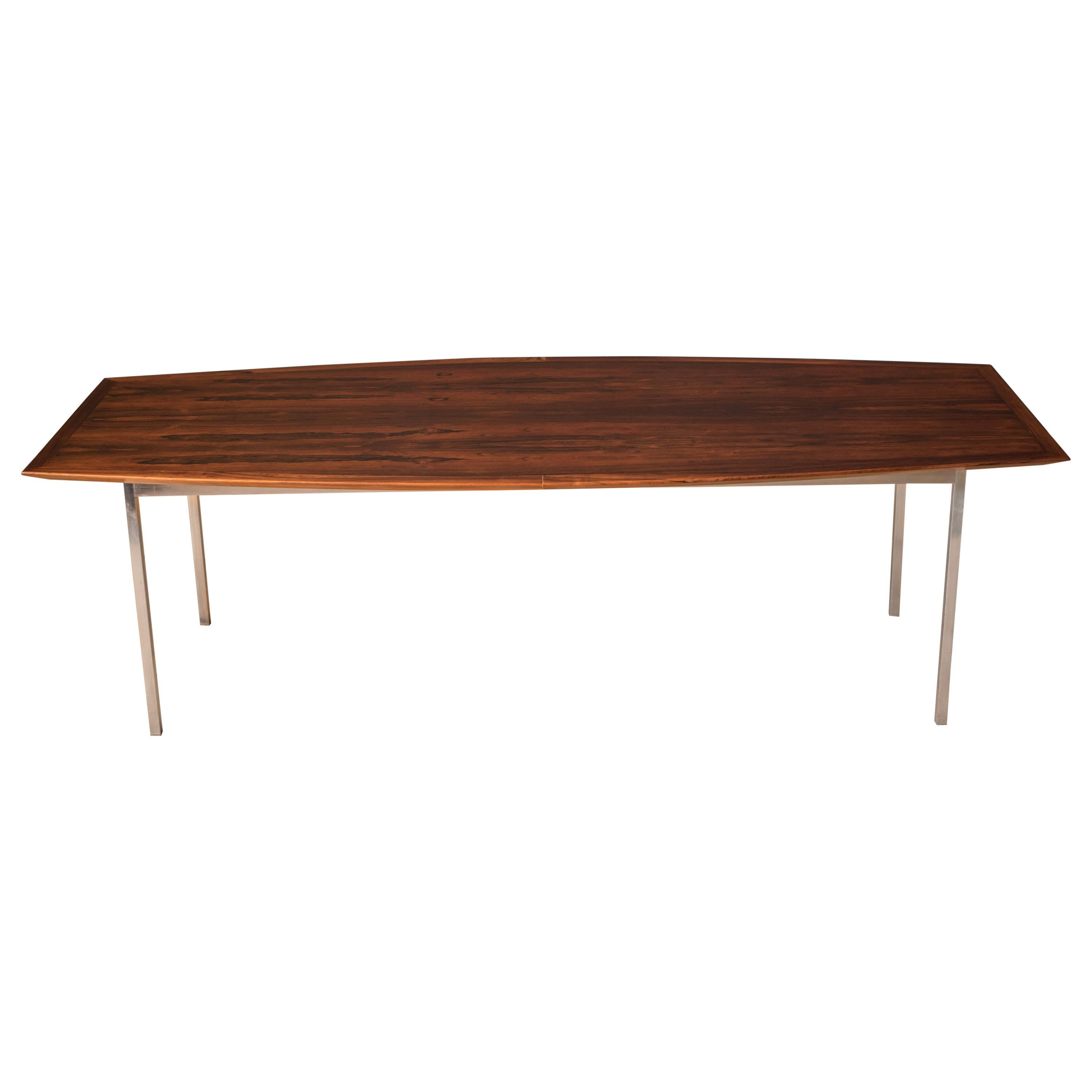 Mid Century Rosewood Conference Dining Table by Florence Knoll