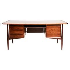 Midcentury Rosewood Desk by H.P. Hansen, c.1960