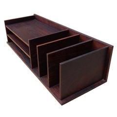 Midcentury Rosewood Desk Organizer / Letter Tray by Georg Petersens