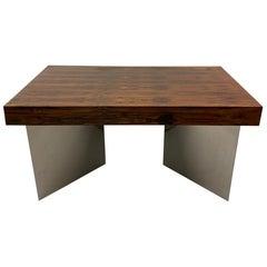 Midcentury Rosewood Desk with Steel Legs, 1960s