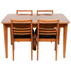 Midcentury Rosewood Dining Table and 4 Chairs by Gordon Russell, circa 1960