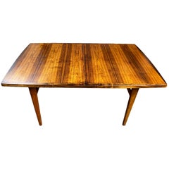 Midcentury Rosewood Expandable Dining Table with 2 Nesting Leaves