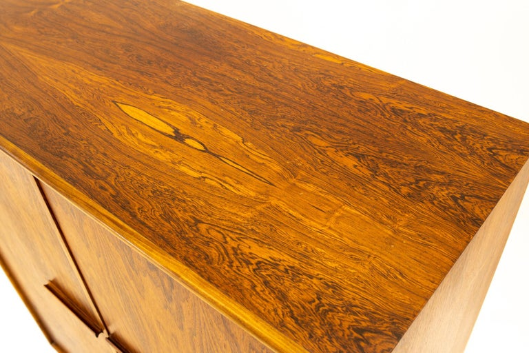 Mid Century Rosewood Highboy Armoire Dresser 5