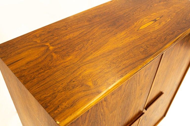 Mid Century Rosewood Highboy Armoire Dresser 6
