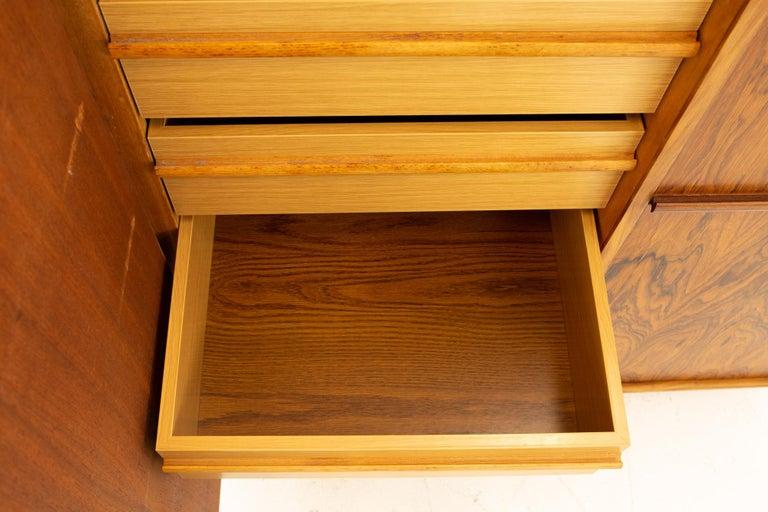 Mid Century Rosewood Highboy Armoire Dresser 7