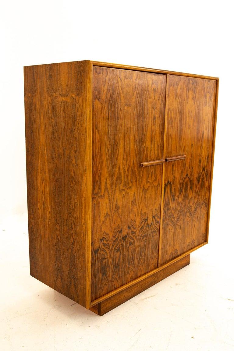 Mid-Century Modern Mid Century Rosewood Highboy Armoire Dresser