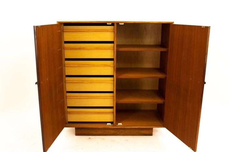 Mid Century Rosewood Highboy Armoire Dresser 2