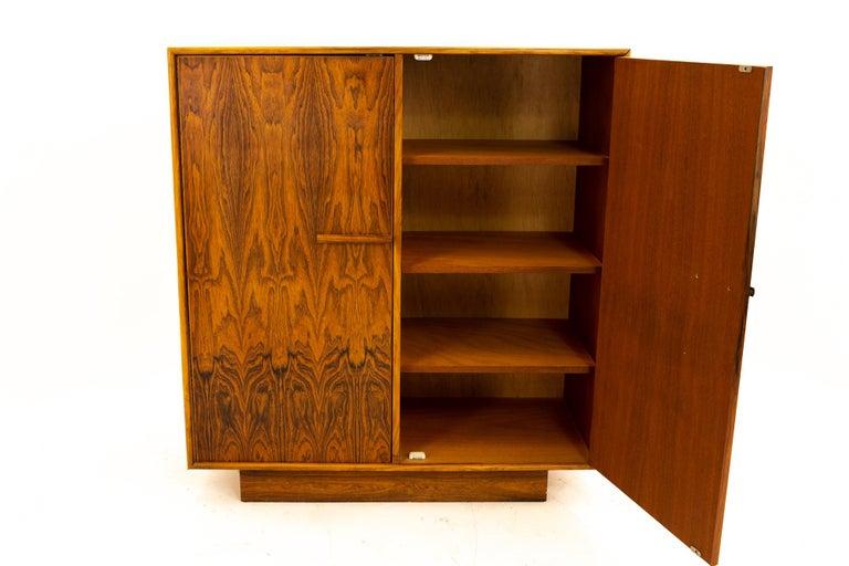 Mid Century Rosewood Highboy Armoire Dresser 3