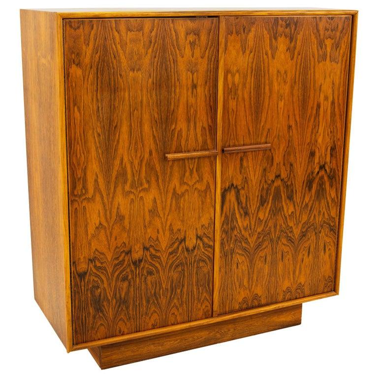 Mid Century Rosewood Highboy Armoire Dresser