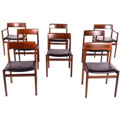 Midcentury Rosewood Kai Kristiansen Dining Chairs for K.S. Møbler, Denmark