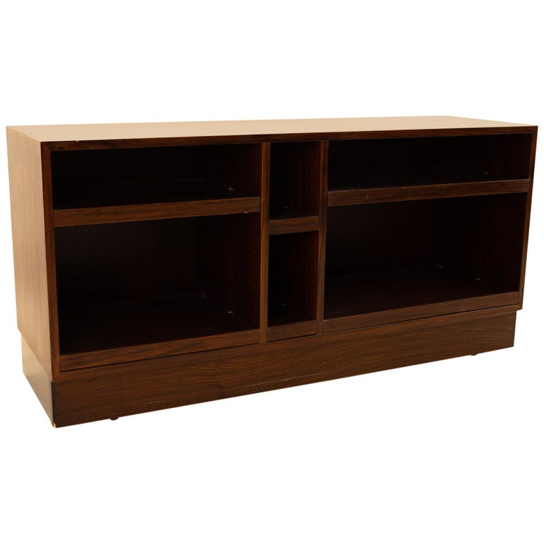 Midcentury Rosewood Media Cabinet Credenza For Sale