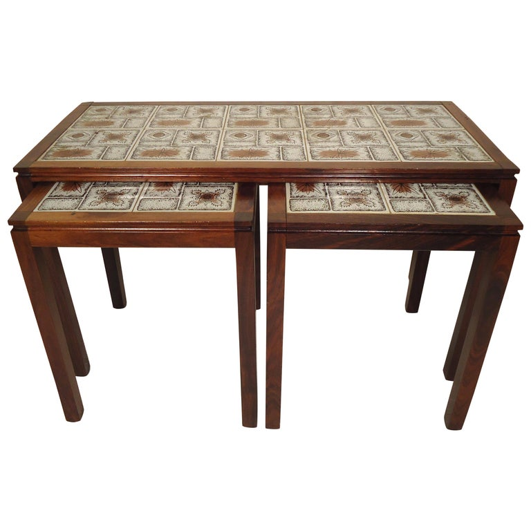 Midcentury Rosewood Nesting Tables For Sale