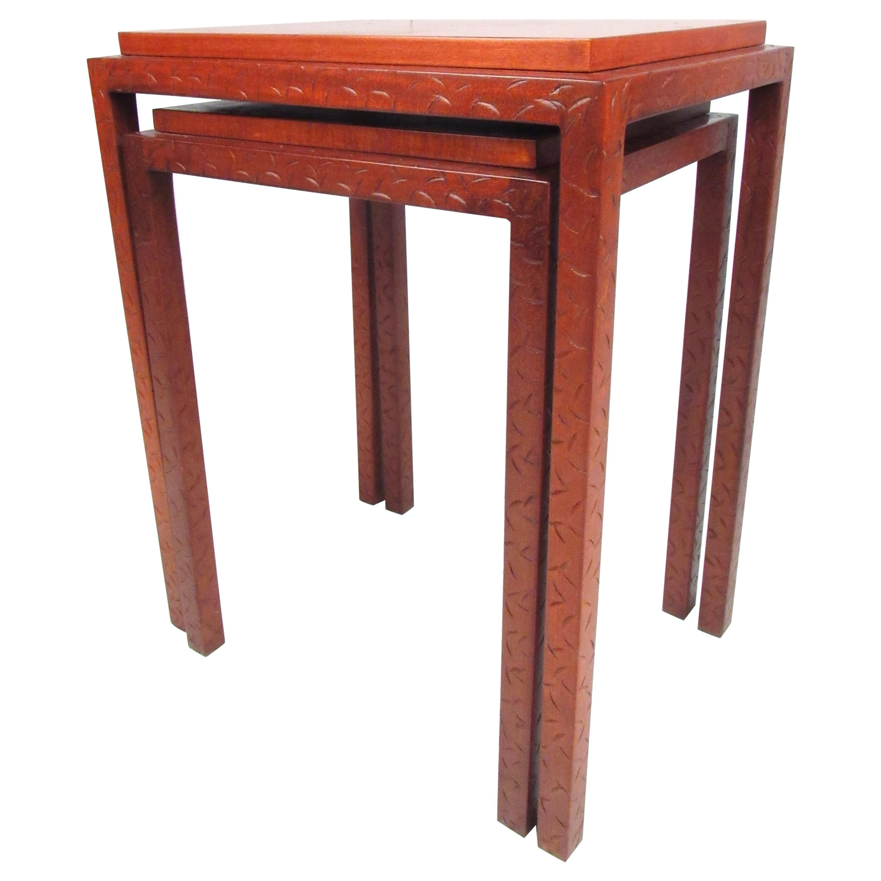 Midcentury Rosewood Nesting Tables